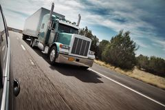 Amerikaanse vrachtwagen Stock Afbeeldingen