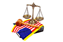 Amerikaanse Wet en Rechtvaardigheid Stock Afbeelding
