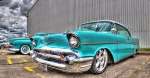 1957 amerikan Chevy Arkivbilder
