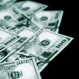 Amerikan 100 dollar sedlar Arkivfoto