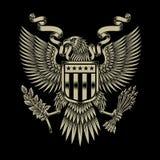 Amerikan Eagle Emblem Fotografering för Bildbyråer