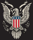 Amerikan Eagle Linework Vector Royaltyfria Bilder