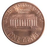 Amerikan ett centmynt Arkivfoton