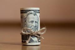 Amerikan femtio dollarräkningar Arkivfoton