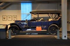 1913 amerikan Fiat, på skärm, det Saratoga bilmuseet, New York, 2015 Fotografering för Bildbyråer