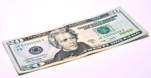 Amerikan 20 U S Dollar Arkivbild