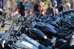 Amerikanare och cyklar Royaltyfri Fotografi