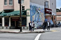 Amerikanen Cyclery, den äldsta cykeln shoppar i San Francisco, 2 Arkivfoton