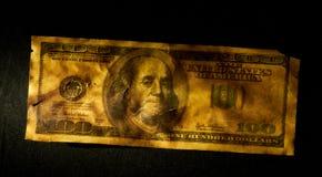 Amerikan 100 dollar Arkivfoto