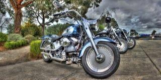 Amerikanen gjorde Harley Davidson mopeder Fotografering för Bildbyråer