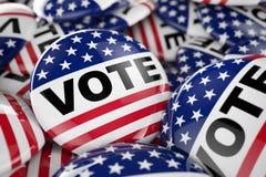 Amerikanen röstar knappen Royaltyfri Bild