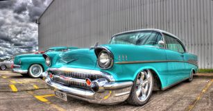 1957 Amerikaner Chevy Stockbilder