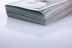 Amerikaner 100 Dollarbanknoten Stockbild