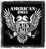 Amerikaner Eagle Vector Graphic Design Lizenzfreie Abbildung