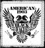 Amerikaner Eagle Vector Graphic Design Stock Abbildung