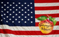 Amerikaner Georgia Voter lizenzfreie stockfotografie