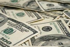 Amerikaner hundert Dollarscheine Lizenzfreie Stockfotos