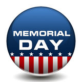 Amerikaner-Memorial Day -Ausweis Stockfoto