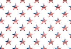 Amerikaner spielt Flaggenmuster die Hauptrolle Stockfotografie