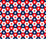 Amerikaner spielt nahtloses Muster des Hexagons die Hauptrolle Stockbilder