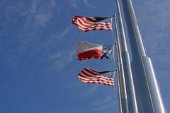 Amerikaner und Texas Flags II Lizenzfreie Stockfotografie