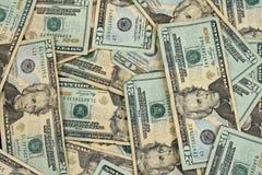 Amerikaner zwanzig Dollarscheine Stockfotografie