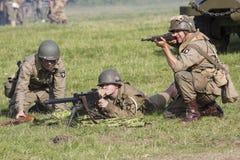 Amerikaner-zweiter Weltkrieg-Soldaten Stockbild