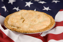 So amerikanisch wie Apfelkuchen Stockfoto
