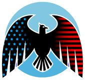 Amerikanische Adlerauslegung Stockfotos