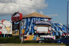 AMERIKANISCHE ALTE STADT KISSIMMEE ORLANDO FLORIDA USA lizenzfreies stockbild