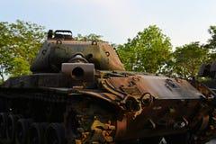 AMERIKANISCHE Armee-Behälter benutzt während des Vietnamkriegs Lizenzfreie Stockbilder