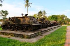 AMERIKANISCHE Armee-Behälter benutzt während des Vietnamkriegs Lizenzfreie Stockfotos