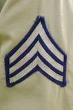 AMERIKANISCHE Armee-Sergeant Stripes Stockfotografie