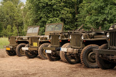 Amerikanische Armeeautos Stockfotos