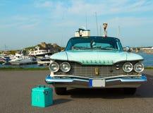 Amerikanische Auto Plymouth-Wutluxusproduktion 1960 auf Festival von stockfotografie
