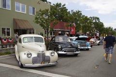 Amerikanische Autos der Weinlese am Car Show Lizenzfreie Stockfotografie