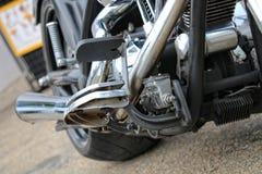 Amerikanische Autos und Fahrräder Stockfotos
