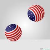 Amerikanische Ballone Stockbild