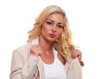 Amerikanische blonde Frau Lizenzfreies Stockfoto