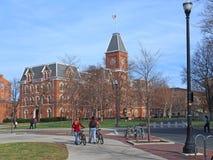 Amerikanische Collegeszene lizenzfreie stockbilder