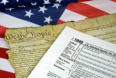 Amerikanische Dokumente Lizenzfreie Stockfotografie