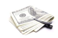 Amerikanische Dollar auf einem weißen Hintergrund lizenzfreie stockfotografie
