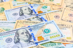 Amerikanische Dollar Bargeld- Stockbild