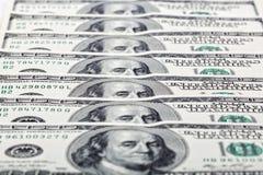 Amerikanische Dollar, ein Hintergrund Stockbild