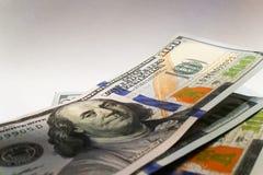 Amerikanische Dollar Geldbanknoten Bill von GeldDollarscheinen stockfoto