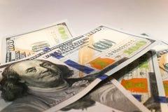 Amerikanische Dollar Geldbanknoten Bill von GeldDollarscheinen lizenzfreie stockbilder