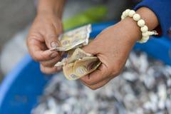 Amerikanische Dollar Hände zählend Lizenzfreie Stockbilder