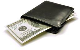 Amerikanische Dollar in Ihrer Mappe lizenzfreie stockfotos