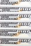 Amerikanische Dollar, Nahaufnahme Stockbilder