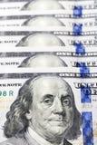 Amerikanische Dollar, Nahaufnahme Stockbild